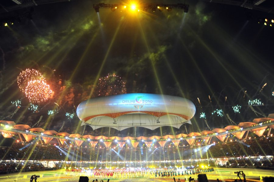 XIX Commonwealth Games-2010 Delhi: A magnificent view of Jawaharlal Nehru Stadium during the closing ceremony of XIX Commonwealth Games-2010 Delhi, in New Delhi on October 14, 2010.