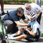 Mark Cavendish abandons Abu Dhabi after crash. Organizers blame brake sensors